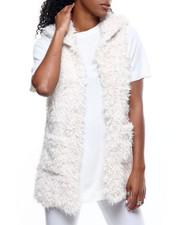 Vests - Faux Fur Hooded Vest-2301128