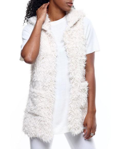 Fashion Lab - Faux Fur Hooded Vest