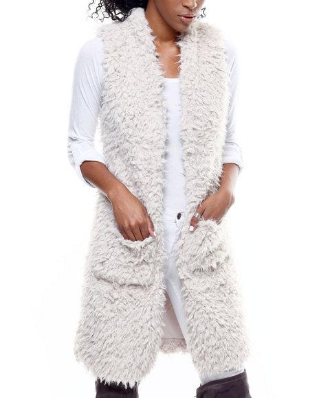 Fashion Lab - Long Faux Fur Vest