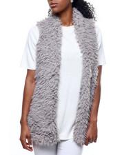 Outerwear - Hook & Eye Exposure Faux Fur Vest-2301083