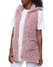 Vests - Faux Fur Hooded Vest-2301123