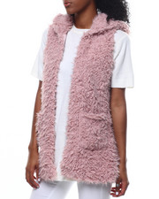 Fashion Lab - Faux Fur Hooded Vest-2301123