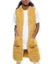 Outerwear - Long Faux Fur Vest-2301098