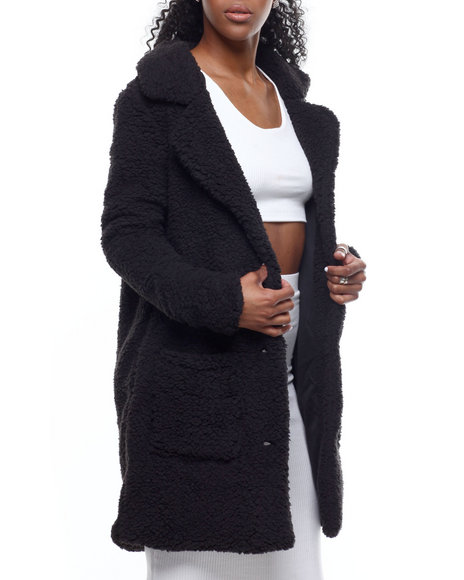 Fashion Lab - Faux Fur Coat Jacket