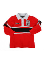 Tops - Long Sleeve Stripe Rugby Polo Shirt (2T-4T)-2300335