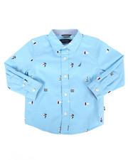 Boys - Aloha Stretch Buoy Print Poplin Shirt (2T-4T)-2302339