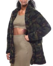 Outerwear - Camo Printed Sherpa Jacket-2302270