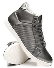 Men - High Stripped Metallic Sneakers-2303107