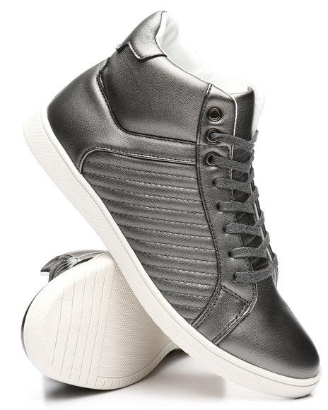 Buyers Picks - High Stripped Metallic Sneakers