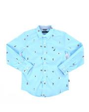 Nautica - Aloha Stretch Buoy Print Poplin Shirt (8-20)-2302344