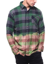 Shirts - Bleached Out Buffalo Plaid Flannel-2303585