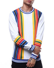 Mens-Winter - Vertical Retro Stripe Crewneck Sweatshirt-2303448