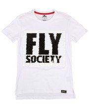 Fly Society - Flip Sequin Fly Society Logo Tee (8-20)-2302357