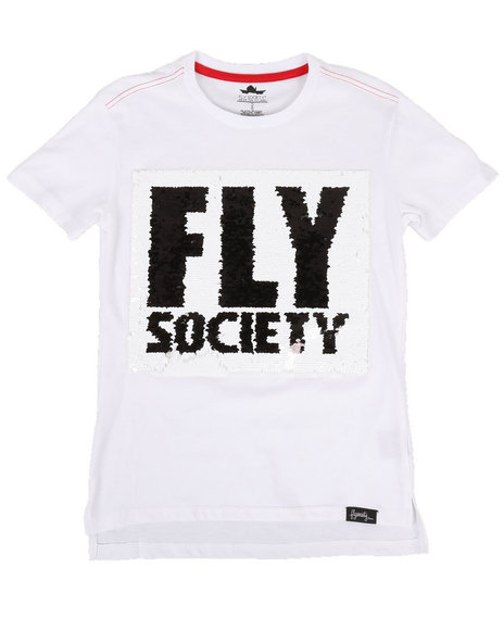 Fly Society - Flip Sequin Fly Society Logo Tee (8-20)