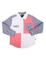 Nautica - Ryan Stretch Chambray Poplin Shirt (4-7)-2302044