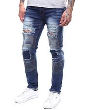 Jeans & Pants - MOTO STRETCH JEAN W BLOWN OUT KNEE-2303423
