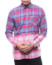 Shirts - Plaid Bleached Out Flannel-2303595