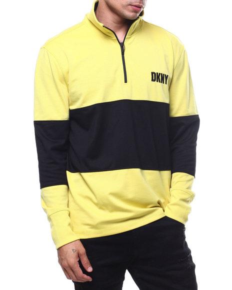 e8c72d03e7eb36 Buy LS Mock Neck Zip Colorblock Knit Shirt Men's Shirts from DKNY ...