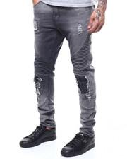 Jeans & Pants - Moto Stretch Jean w Blown out Knee-2303371