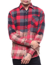 Shirts - Bleached Out Buffalo Plaid Flannel-2303561