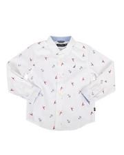 Nautica - Mika Stretch Buoy Print Poplin Shirt (4-7)-2302334