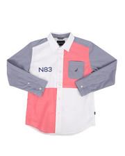 Nautica - Ryan Stretch Chambray Poplin Shirt (8-20)-2302325