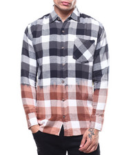Shirts - Bleached Out Buffalo Plaid Flannel-2303576