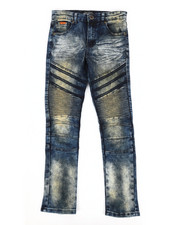 Bottoms - Heavy Blasted Stretch Moto Denim Jeans (8-20)-2302600