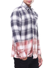 Shirts - Plaid Bleached Out Flannel-2303551