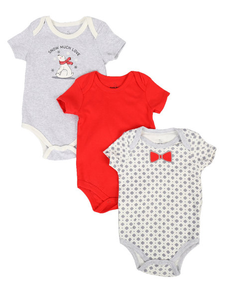 Duck Duck Goose - Snow Love 3Pk Creeper Set (Infant)