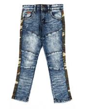 Boys - Washed Stretch Denim Jeans w/ Twill Camo Taping (4-7)-2302619