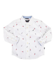Tops - Mika Stretch Buoy Print Poplin Shirt (2T-4T)-2302330