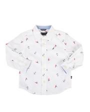 Nautica - Mika Stretch Buoy Print Poplin Shirt (2T-4T)-2302330