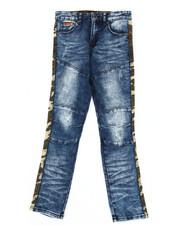 Parish - Washed Stretch Denim Jeans w/ Twill Camo Taping (8-20)-2302654