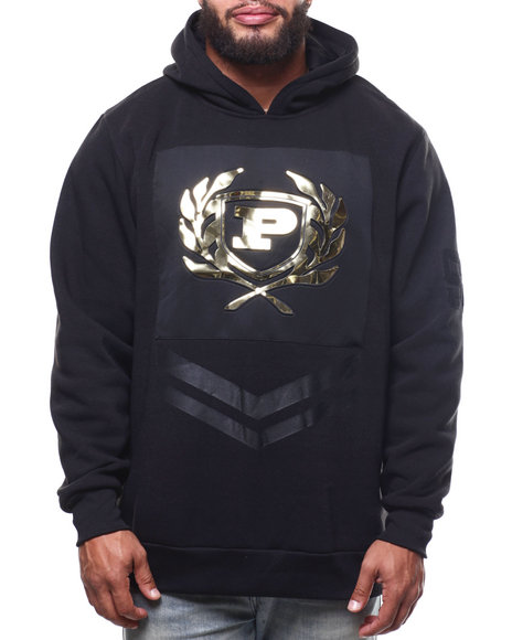 Phat Farm - L/S Embossed Metallic Vinyl Patch Fleece Hoodie (B&T)