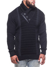 Buyers Picks - Ribbed Front Button Trim  Sweater (B&T)-2302791
