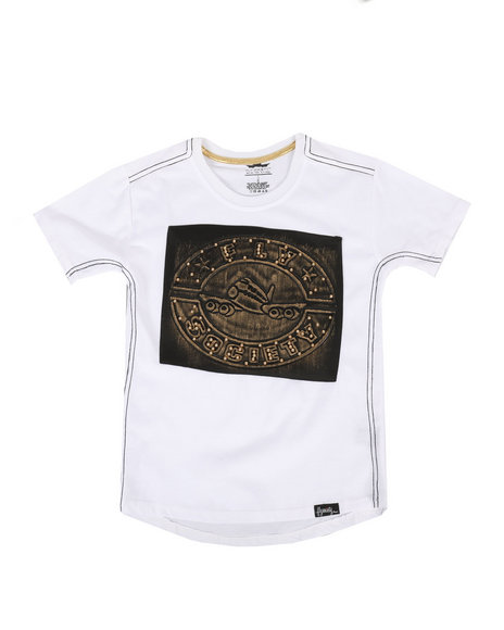 Fly Society - Brushed Metallic Embossed Tee (8-20)