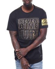 Men - Never Give Up Brushed Foil Tee-2304392
