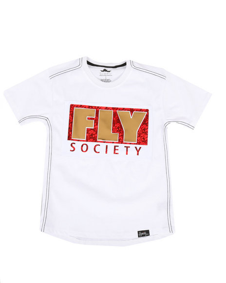 Fly Society - Mirror Logo Tee (8-20)