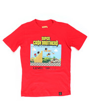Boys - S/S SUPER CASH BROTHERS TEE (8-20)-2304103