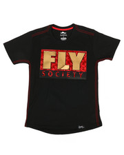Fly Society - Mirror Logo Tee (8-20)-2302931