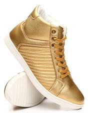 Footwear - High Stripped Metallic Sneakers-2304284