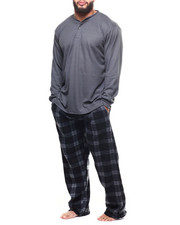 Sets - Big & Tall Plaid Thermal 2 Piece Set-2304136