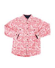 Sizes 8-20 - Big Kids - Long Sleeve Woven Comic Print Shirt (8-20)-2303006