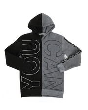 Boys - You Can Do Anything Split Color Block Hoodie (8-18)-2302966
