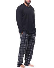 Buyers Picks - Big & Tall Plaid Thermal 2 Piece Set-2304140