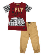 Fly Society - 2 Pc T-Shirt & Pants Set (2T-4T)-2303719