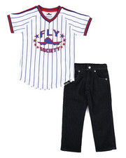 Fly Society - 2 Pc Tee & Denim Set (2T-4T)-2304089