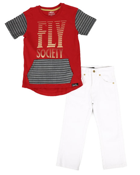 Fly Society - 2 Pc T-Shirt & Pants Set (4-7)
