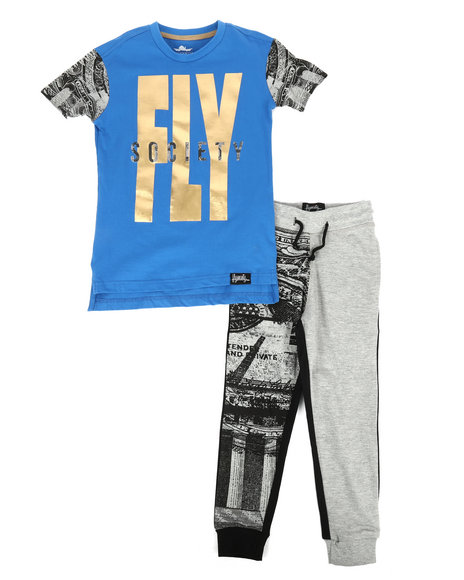 Fly Society - 2 Pc T-Shirt & Sweatpants Set (4-7)